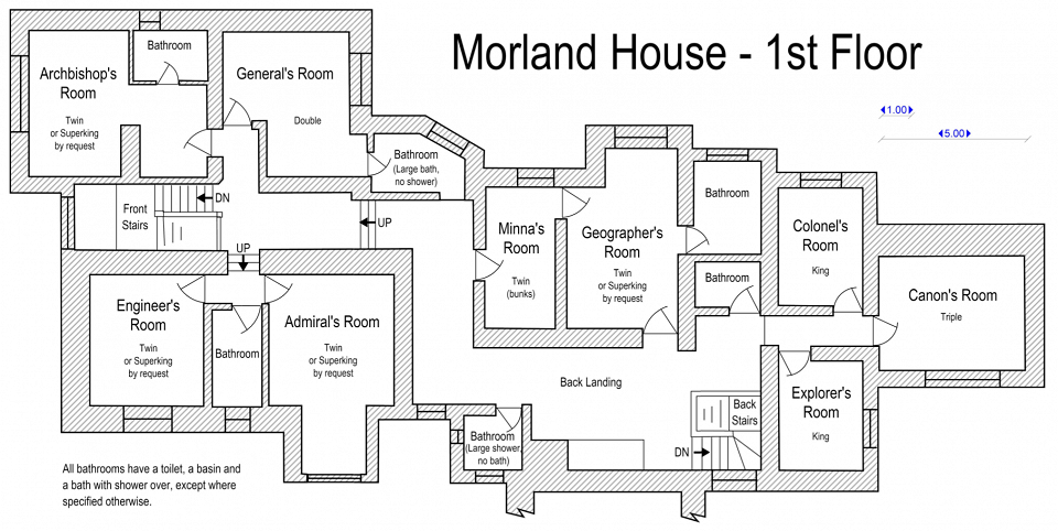 Floor plan: first floor at Morland House