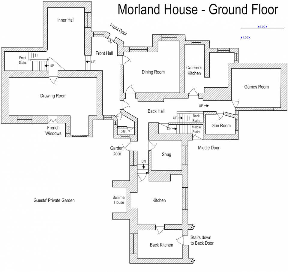 Floor plan: ground floor, Morland House